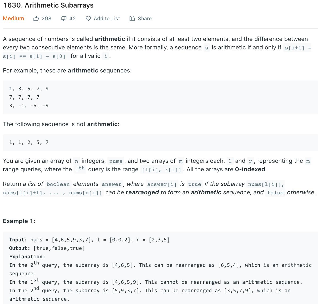 Arithmetic Subarrays