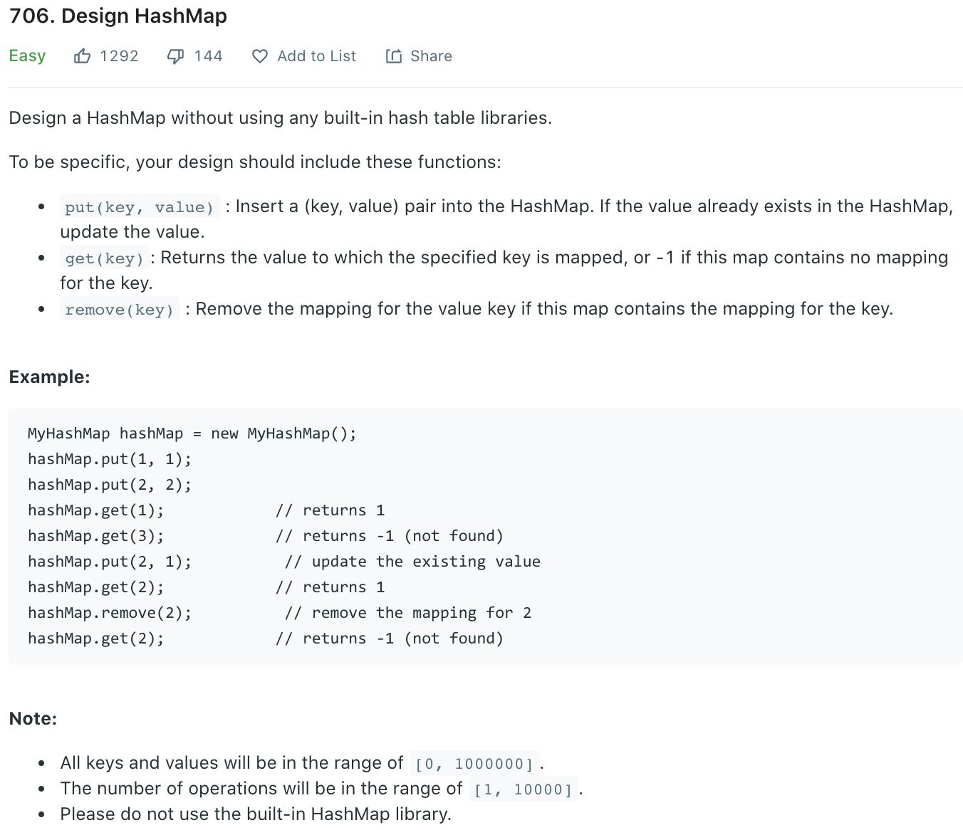 Design HashMap